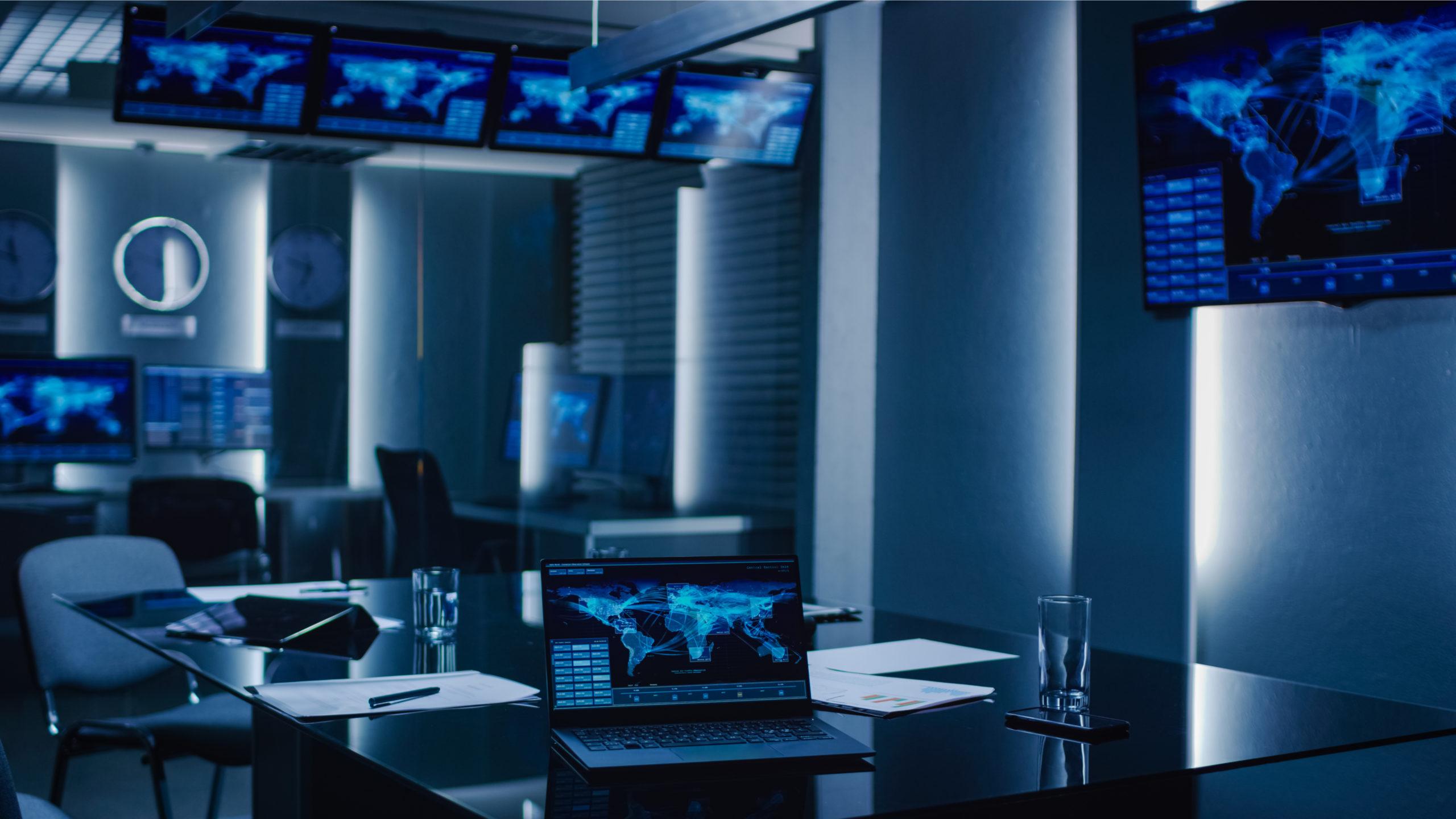 laptop with futuristic